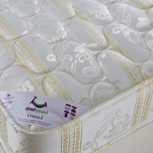 Double Size Mattress 4.6ft Upholstered Bed Furniture Coil Spring Medium Tension