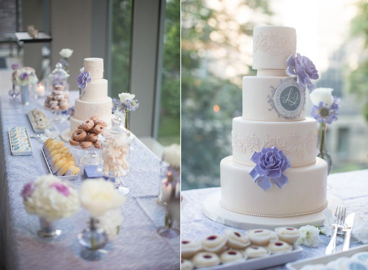 Royal Conservatory of Music wedding cake and sweet table