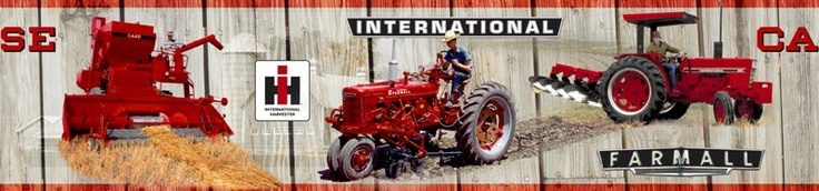 Farmall vintage wood backround wall border for the home - Farmall tractor wallpaper border ...