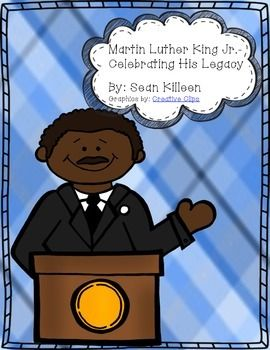 "$3.50 Celebrate Dr. King with this multidisciplinary learning pack.  Activities/Items included: Excerpt of Dr. Martin Luther King's ""I Have A Dream"" Speech  Daily Morning Worksheet Infused With Dr. King's Concepts  Timeline of Important Dates in MLK's Life  True/False and Fill in the Blank Worksheet  Synonym Worksheet  Cloze Activity  4 Multidisciplinary Mental Math Cards  Quote Illustration Activity   Writing Activity  Self-Created Martin Luther King Poem 	 Martin Luther King Haiku"