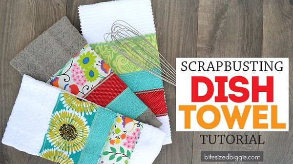 Tutorial: Easy scrappy dish towel