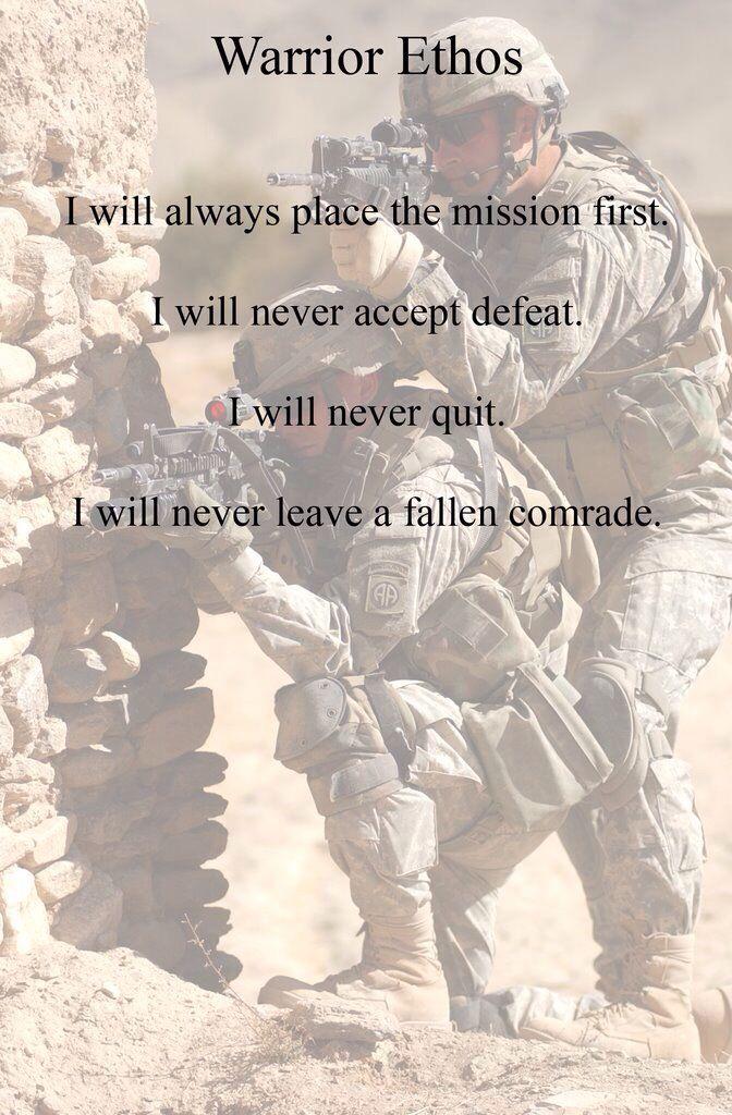 Warrior ethos | U.S. Military | Military salute, Marine ...