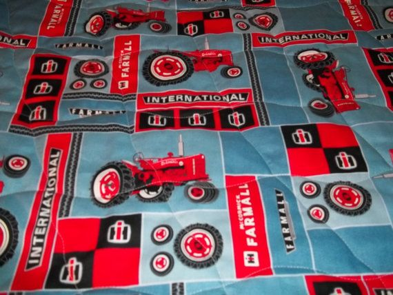 International Harvester Farmall Red Tractor Toddler Bed Or