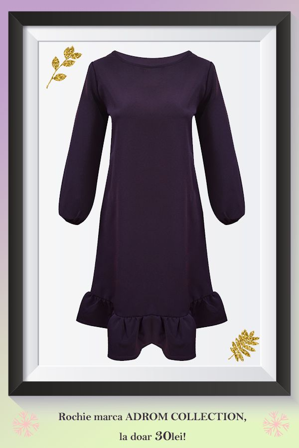 Rochie confecționată pe o croială largă, ce prezintă mâneci puțin bufante, cu elastic la baza încheieturii și un mic volan la baza rochiei. Este un model lejer, ce ascunde foarte bine micile imperfecțiuni și se poate asorta foarte ușor cu alte produse vestimentare.   Pentru comenzi online: http://www.adromcollection.ro/rochii/435-rochie-angro-6132.html