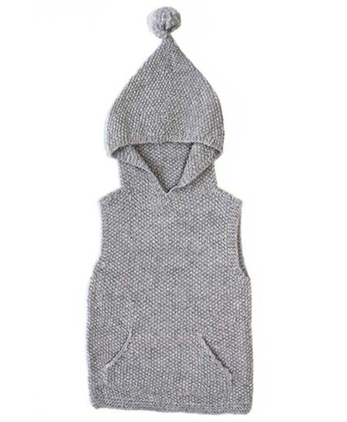Sleeveless Sweater Dove Grey – Redfish Kids