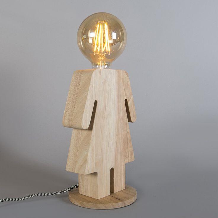 Tafellamp Eve hout €65