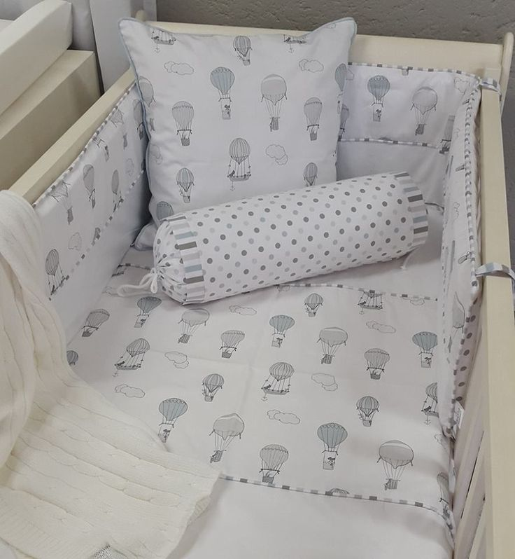 Our #UpandAway bedding in #blue and #grey is perfect for any #BabyBoy's #AdventureTheme nursery!   #BabyBedding #BabyLinen