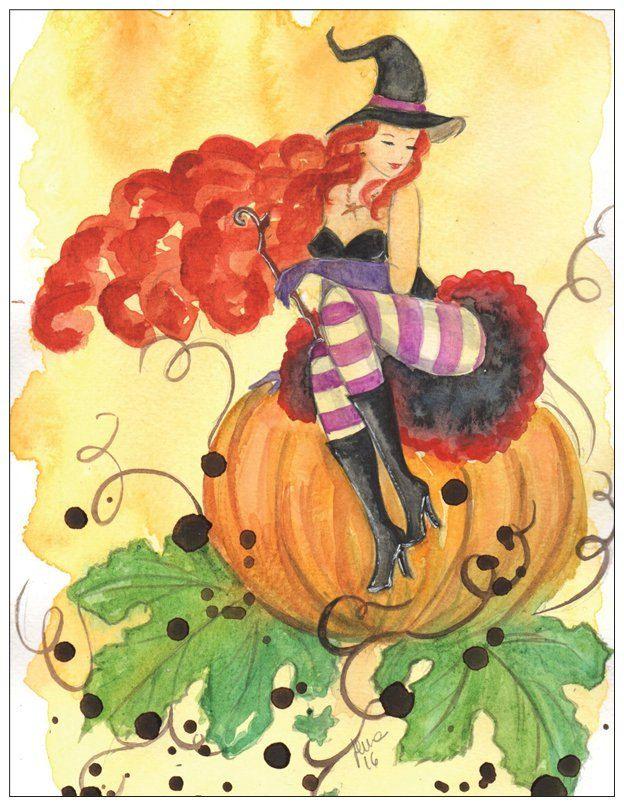 Halloween Pin Up by silviadotti on Etsy
