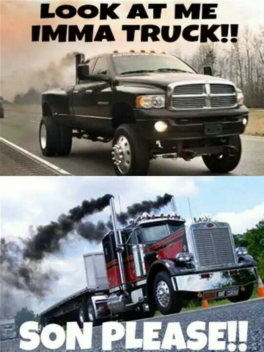 Every time we see a 4 wheeler with stacks #trucking