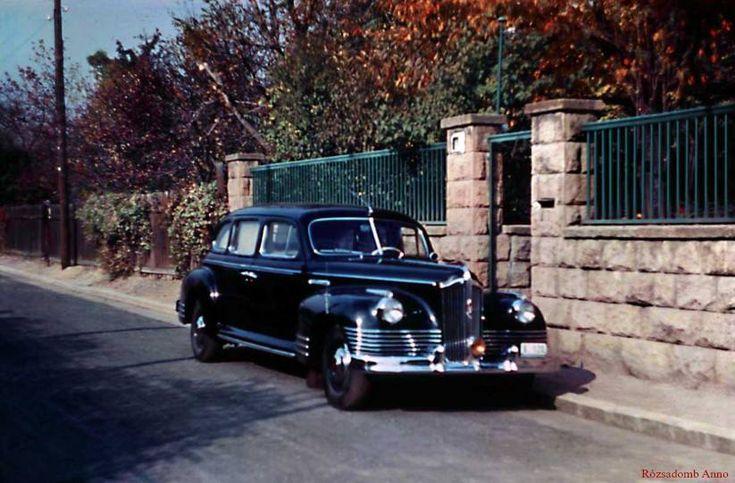 1953. Orsó u. 43 előtt, Nagy Imre miniszterelnöki autója (ZISz), Nagy Imre saját fotója