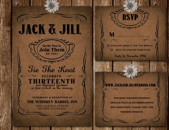 The Jack Daniels Collection Set  Printable by HomemadeWithLoveWed, $25.00