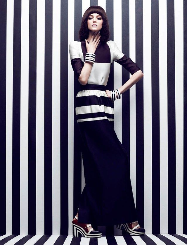Gowns-in-Monochrome-Graphics-Spring-Summer-2014-2 #LAURELCONNIE