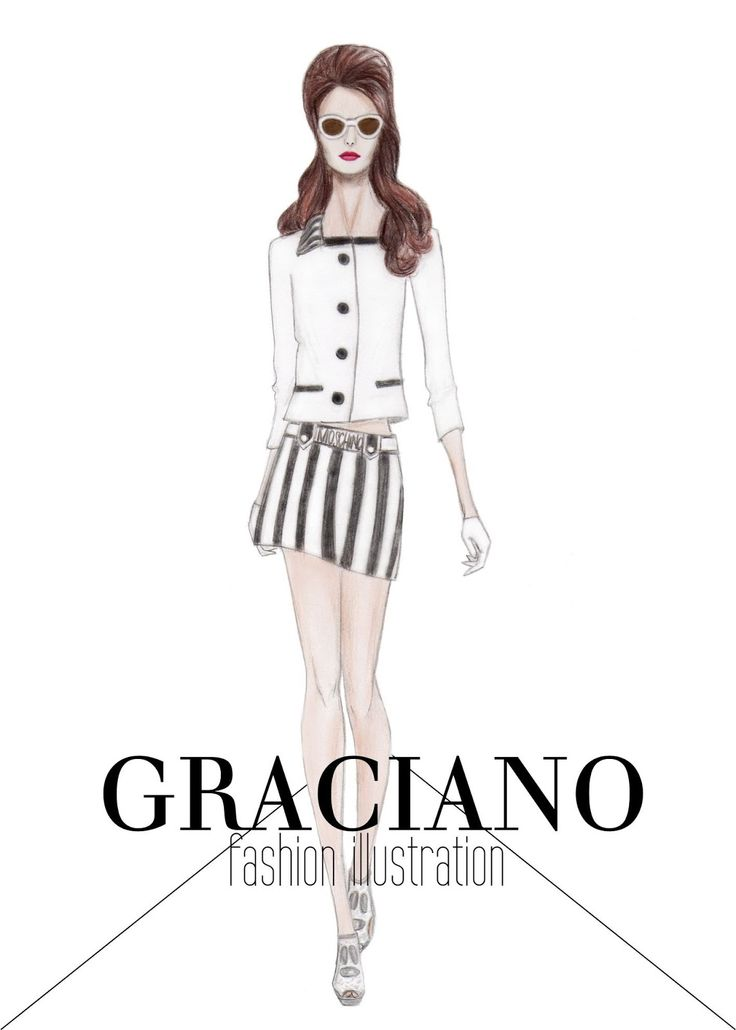 GRACIANO fashion illustration: Moschino S/S 2013 #MFW