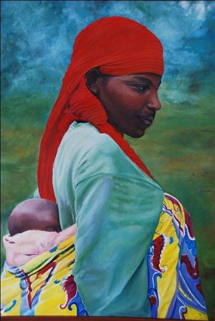 "Oleo de Claudia Hermosilla  ""Africa Hermosa"""