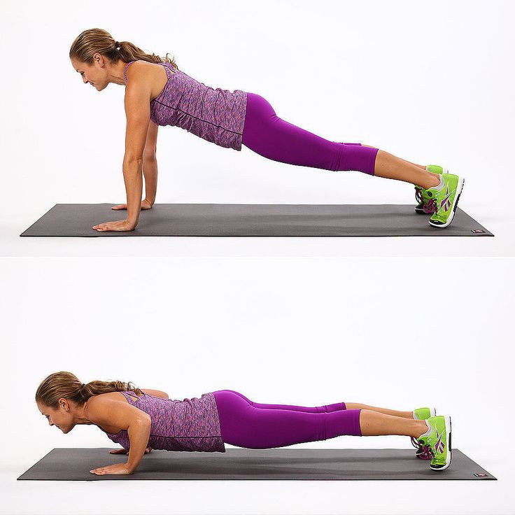 Push-Up: This simple move does wonders for strengthening your arms, but it's important to do it correctly.
