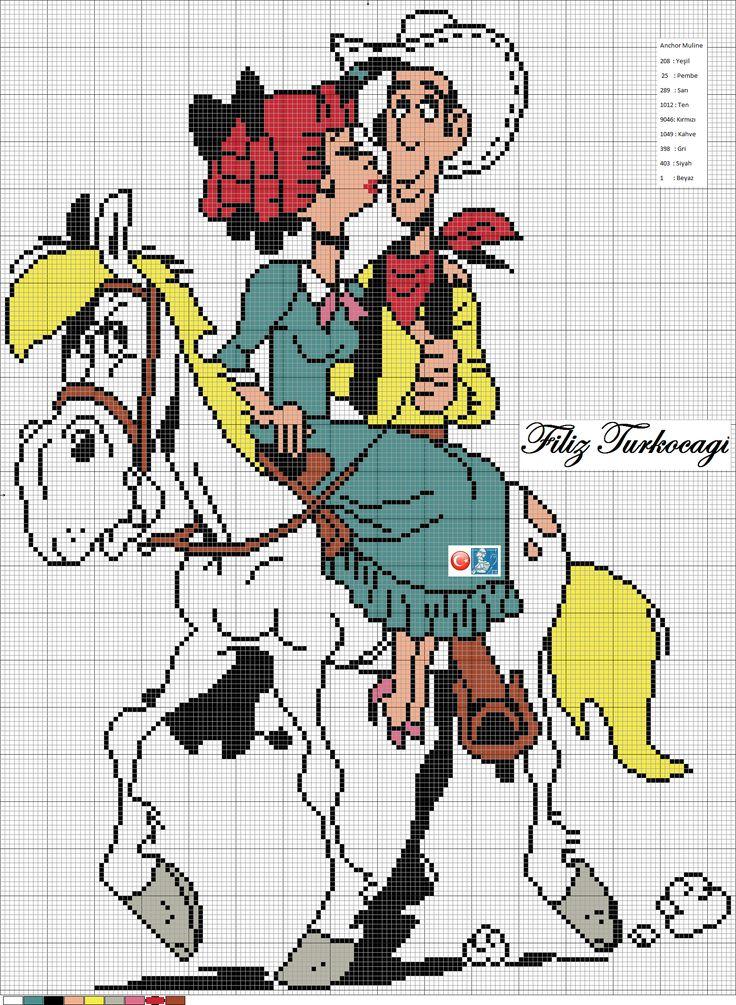 Tüm Red Kit severlere gelsin :)) Designed by Filiz Türkocağı...(Lucky Luke )