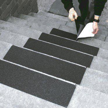 """Amazon.com: Black Stair Safety Anti Slip Tread Tape - Package of 5, 6"""" X 24"""": Home Improvement"""