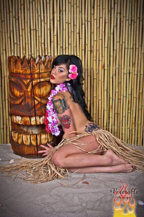 Hula Girl With TIKI