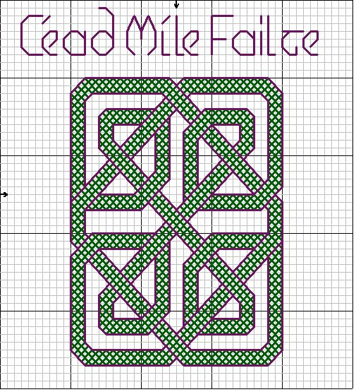 Celtic Knot Knitting Chart : Best celtic cross stitch embroidery freebies images on