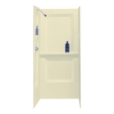 E L Mustee Son Durawall 73 X 32 X 31 Three Panel Shower Wall