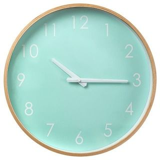 Mint Timber Clock