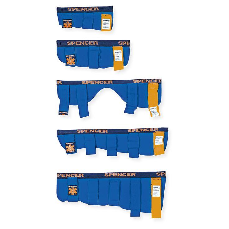 Le chiusure Sono con strap e consentono un rapido e facile fissaggio. La parte superiore di ogni steccobenda è evidenziata con strap di colore arancio. Nelle Blue Splint Pro la chiusura dei nastri è realizzata con fibbie in nylon con regolatore integrato. La parte prossimale è evidenziata con un nastro blu.  Le rifiniture Sono curate e resistenti per aumentare le performance delle steccobende in comfort e durata. La camera del profilo è ottenuta cucendo un nastro di nylon al supporto in…