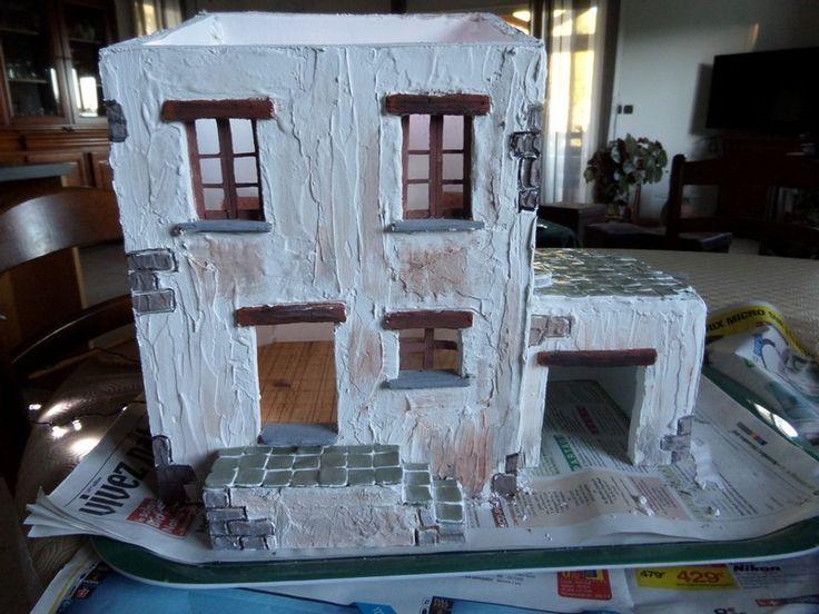 Comment r aliser une maison de cr che de no l en placo - Fabrication de maison pour creche de noel ...