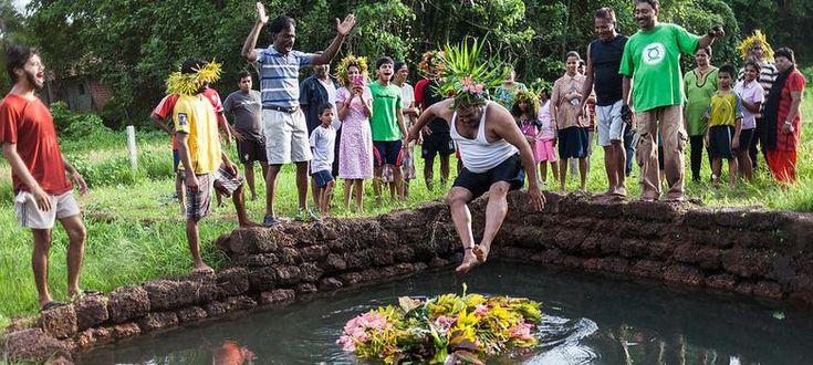Goa's feast of São João has wild flowers, feni – and jumping into wells