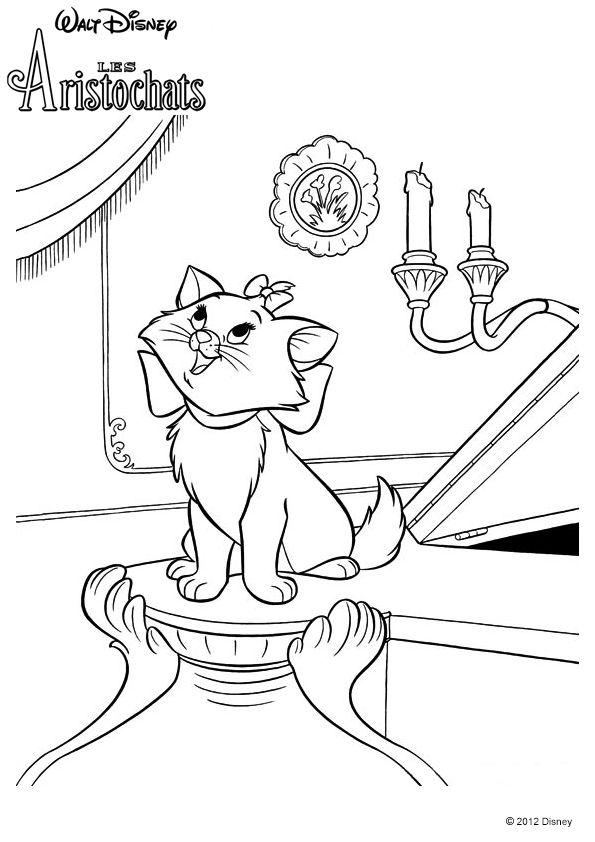 Coloring Pages Jouer Du Piano Disney Cruise Plan Music Party Colour Images Le Jolie Toulouse Mignon Croquis