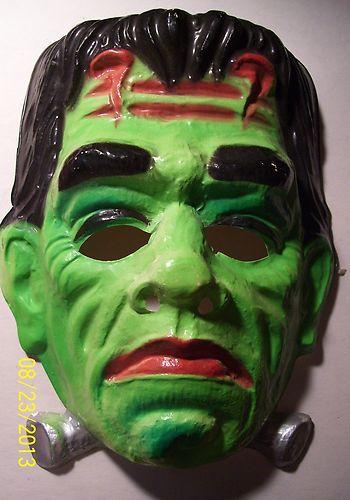 Vintage Ben Cooper Frankenstein mask.