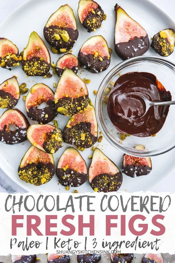 These dark chocolate covered figs with pistachios and sea salt are my favorite summer fresh fig recipes. They are gluten…