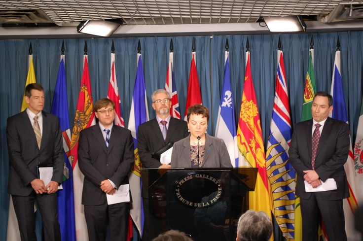 CAMRT President Amanada Bolderston speaks on Parliament Hill for Medical Imaging Team Day in Canada, May 17, 2012
