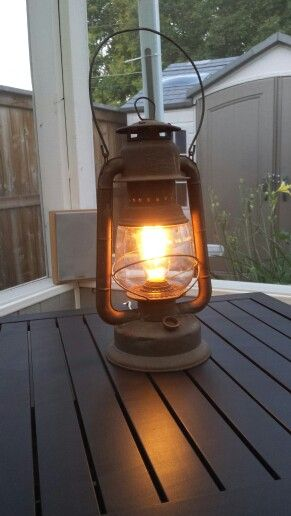 Repurposed Beacon lantern to an actual working table lamp