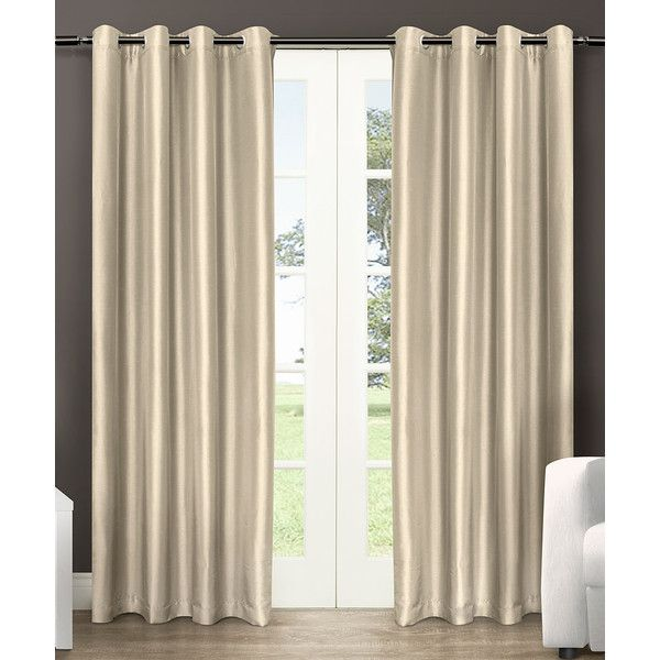 Exclusive Home Bone Chatra Curtain Panel ($40) ❤ Liked On Polyvore  Featuring Home,