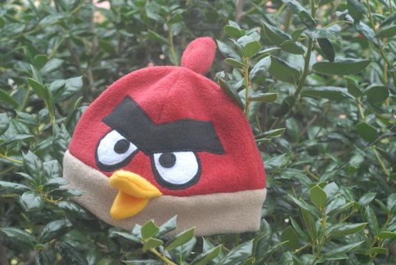 Angry bird fleece hat