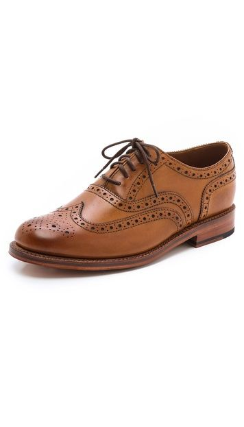Grenson Stanley Oxfords with Cap Brogue - men's shoes for a business attire