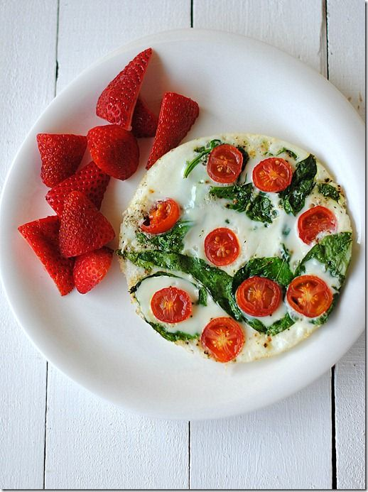 Spinach and Egg White Omelet, only 1 WW point!