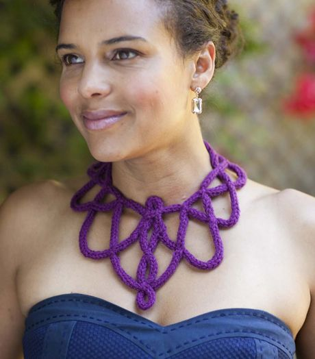 Spool Knitted Necklace | Your Knitting Life Magazine