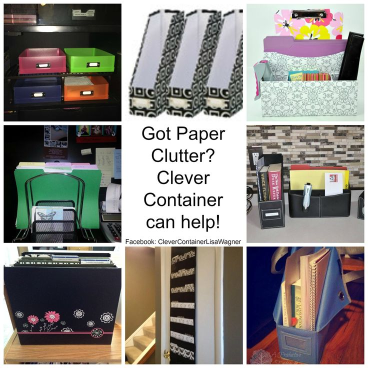 Help organizing paper clutter