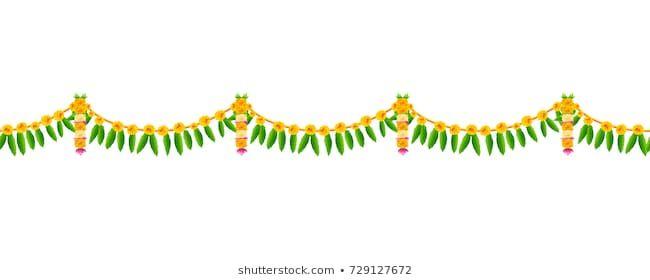 Illustration Flower Garland Decoration Toran Happy Stock Vector Royalty Free 729127672 Flower Illustration Flower Garlands Holiday Background