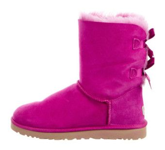 """""""Boot's"""" by briyannaelainhoy on Polyvore featuring shoes, boots, ankle booties, pink, ugg boots, ugg® bootie, round toe booties, ankle bootie boots and pink ankle boots"""