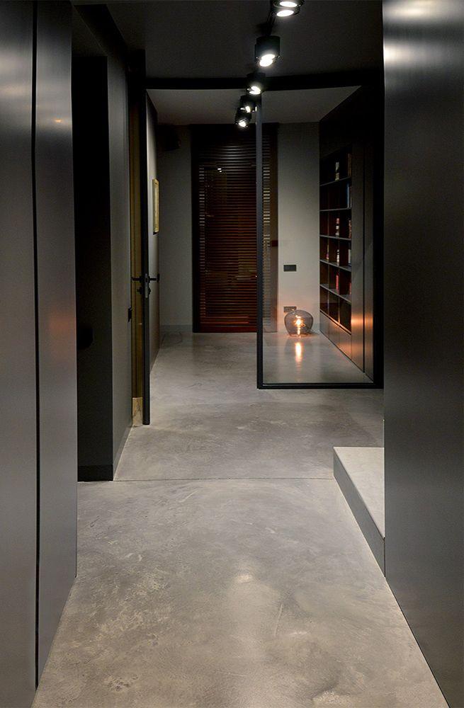 Poważnie podłoga betonowa - polerowany beton - beton szlifowany BY22