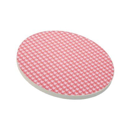 Pretty-Table-Accents-Lite-Red-White Sandstone Coaster - wood wedding style nature diy customize personalize marriage