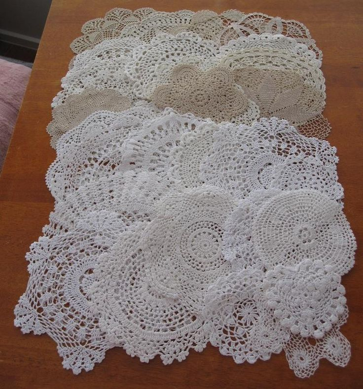 THIRTY Authentic Vintage Crochet Doilies Bulk Variety No Reserve in Antiques, Textiles, Linens, Lace, Crochet, Doilies | eBay SELLER ID: kathy_a1