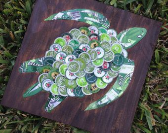 Beer/Bottle Cap Red Seahorse 5 1/2 x 24 Signed by KaysCapArt