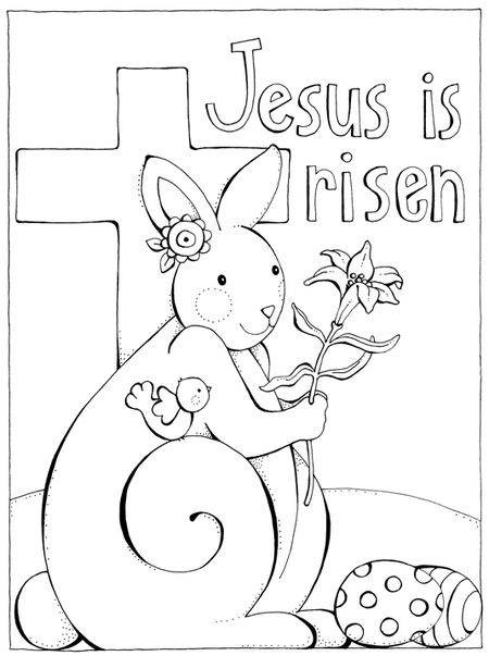 Easter Coloring Page He Is Risen Easter Prek Theme