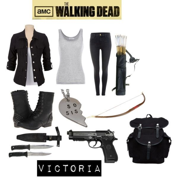 the walking dead (oc) by ironically-a-strider21 on Polyvore featuring mode, Velvet by Graham & Spencer, J Brand, Madden Girl and Your Turn