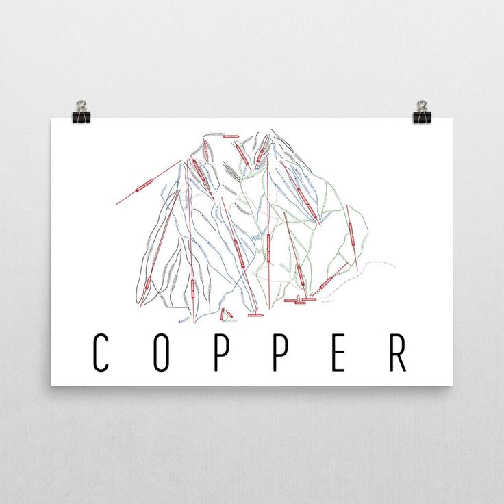 Copper Mountain Ski Map Art, Trail Map, Print, Poster From $39.99 - ModernMapArt - Modern Map Art