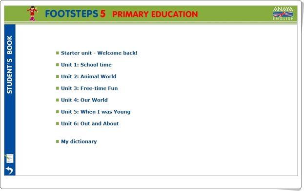 """""""Anaya English Footsteps"""". 5º Nivel de Educación Primaria."""