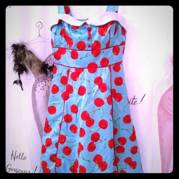 Vintage Cherry Dress Fabulous Cherry Dress sure to turn heads Dresses